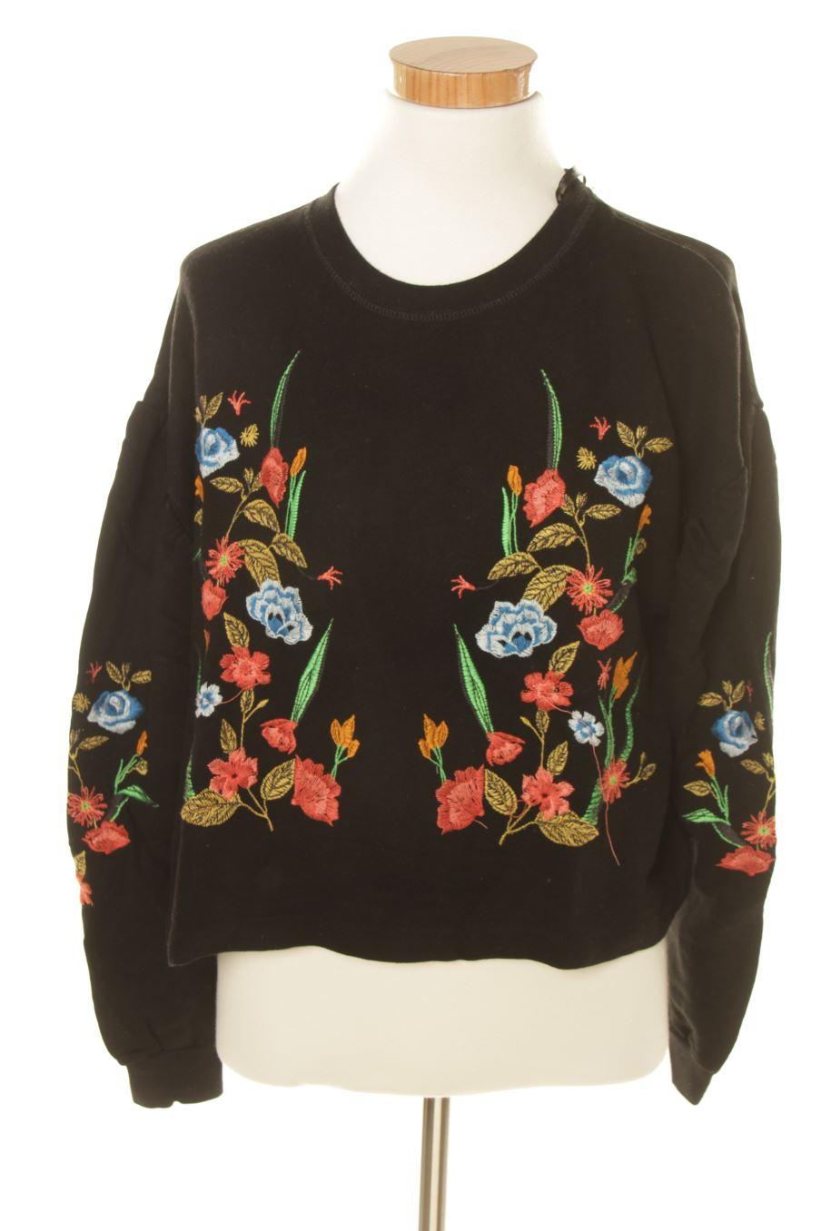 Sweat Zara S Fleurs
